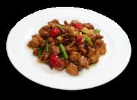 鶏肉の山椒ピリ辛炒め